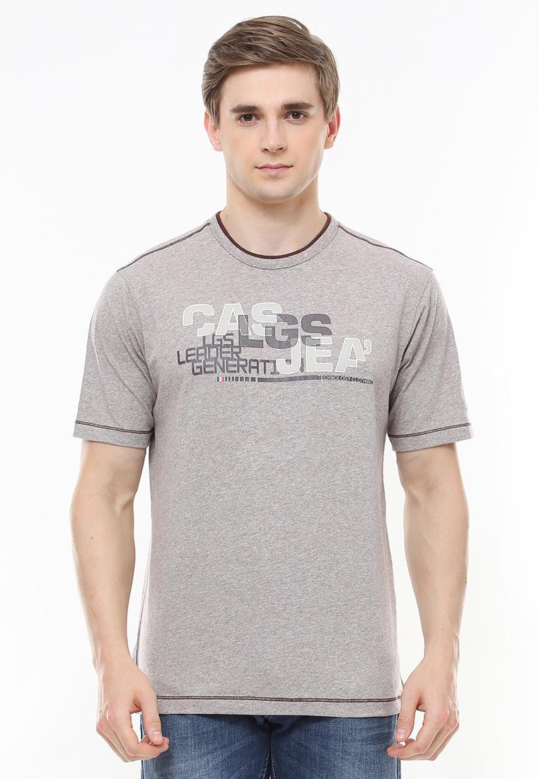 LGS - Regular Fit - Kaos Casual - Logo Casual - Abu - Grey