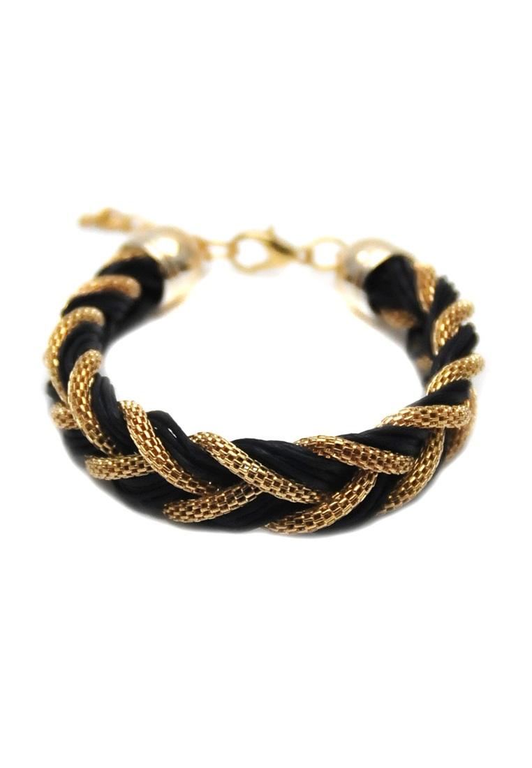 Istana Accessories Gelang Dheya Braid Fashion Bracelet - Hitam