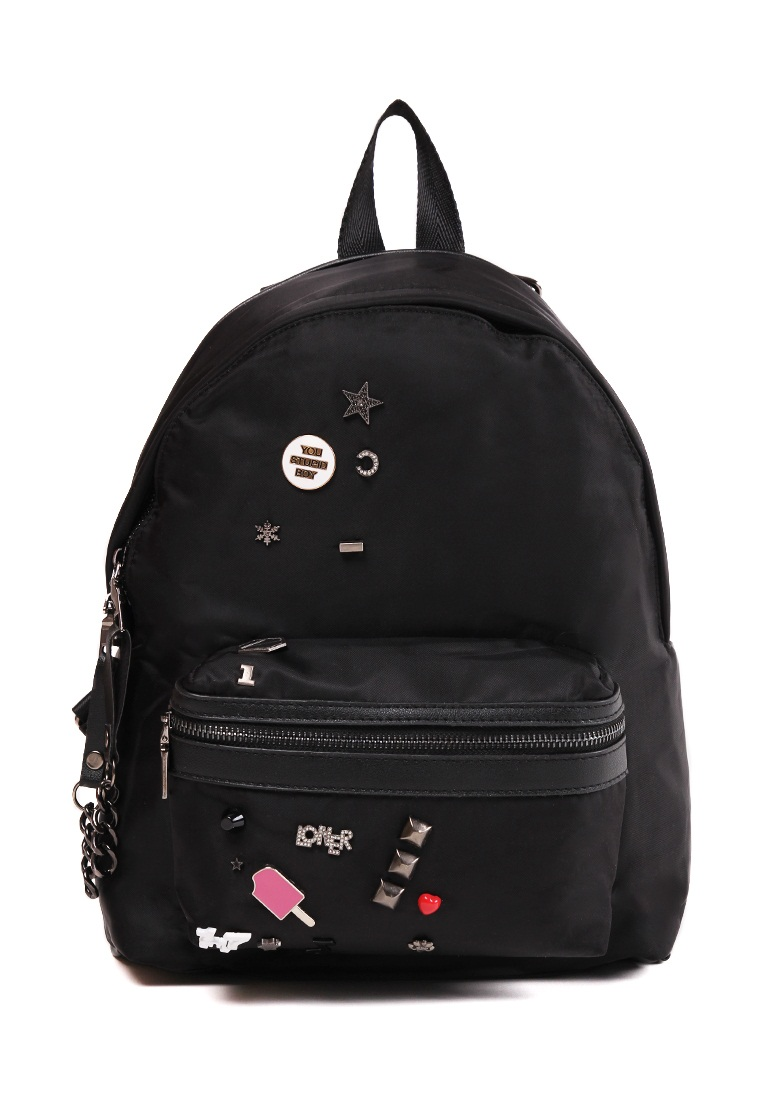 London Berry by HUER Morley Patches Backpack