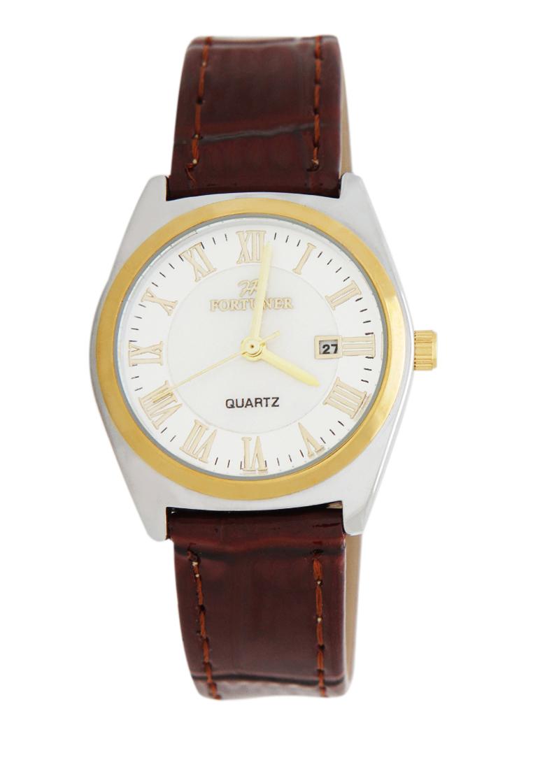 Fortuner Fortuner Watch Jam tangan Wanita FR K1011AL - Silver Gold Brown
