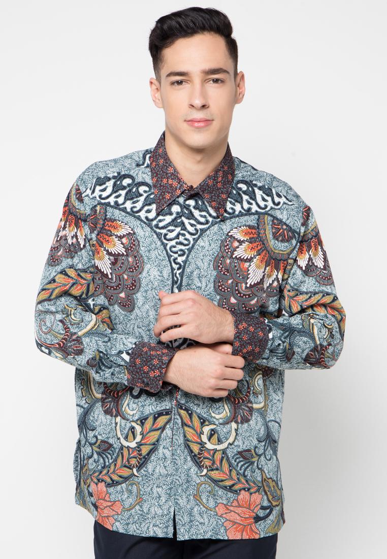 Kemeja Batik Biru by Arjuna Weda AG1871 | Klikplaza Online Shop