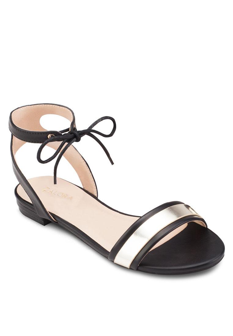 ZALORA Ankle Strap Flat Sandals