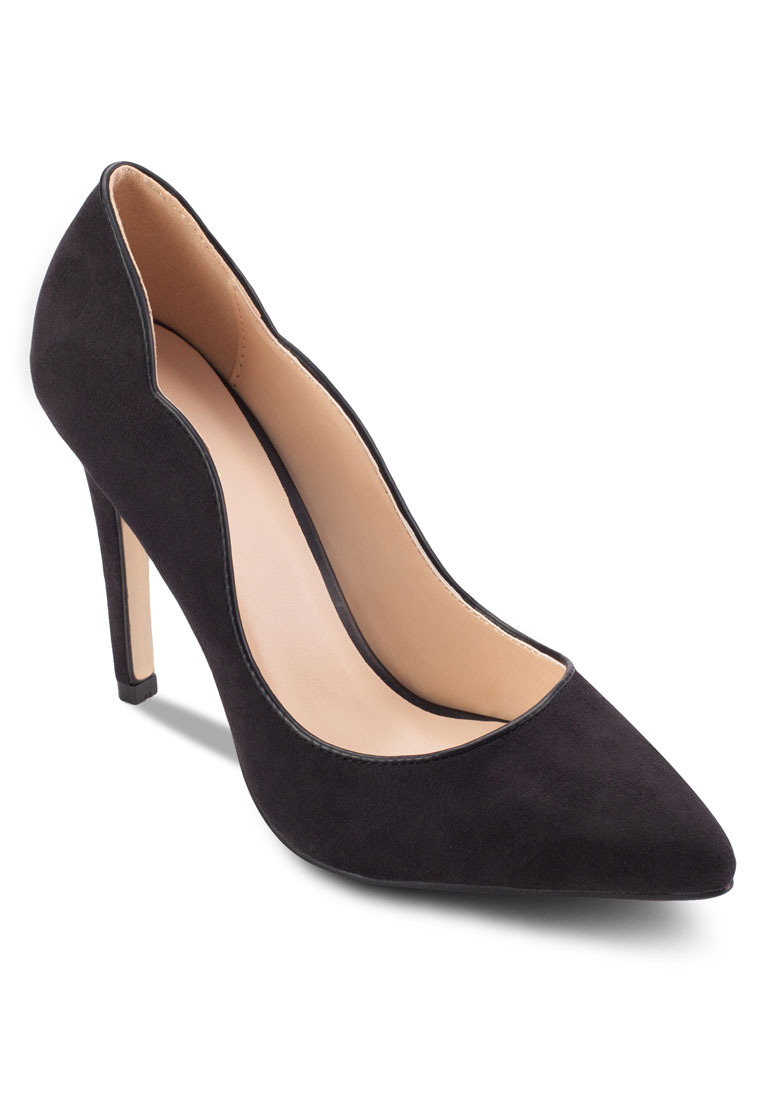Scalloped Heel Pumps