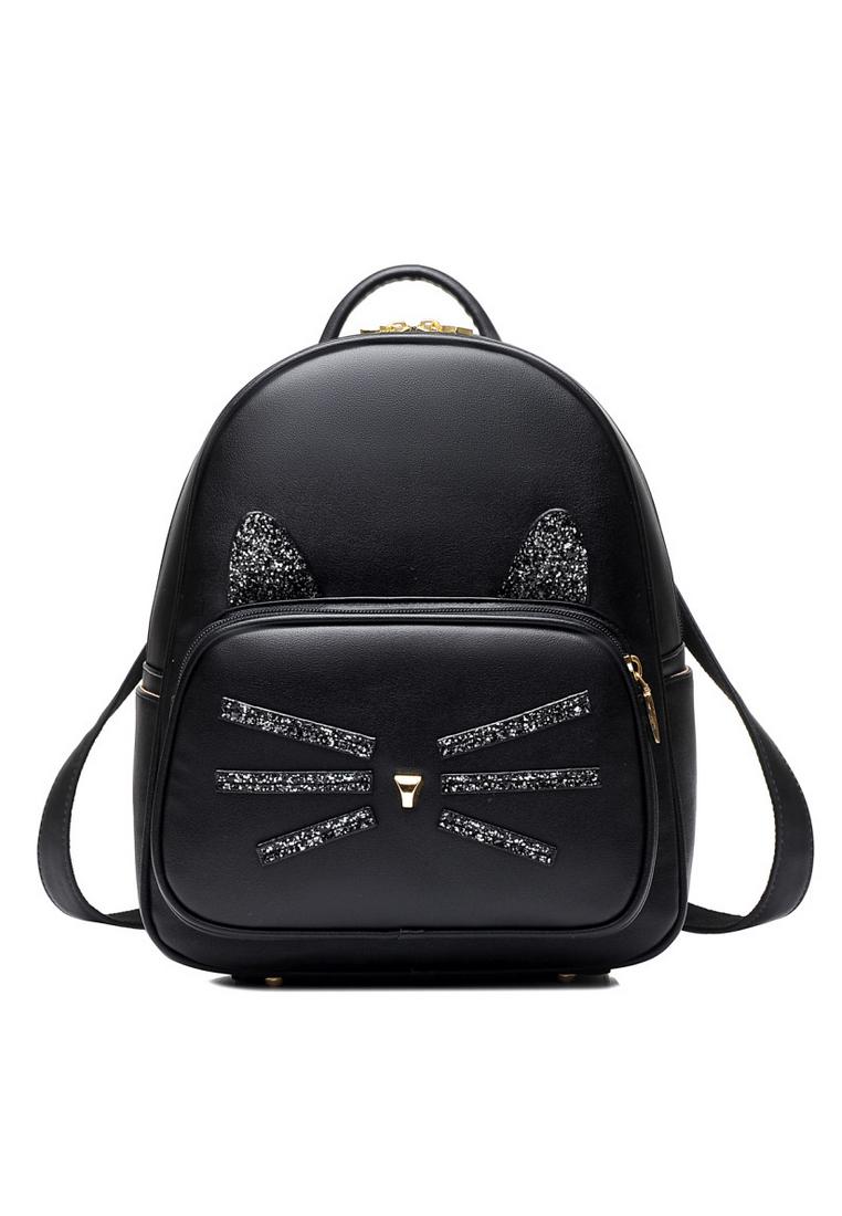 VERNYX VERNYX - Women's Beibaobao Fade Kitten Backpack - TSX587 Black - Tas Ransel Wanita