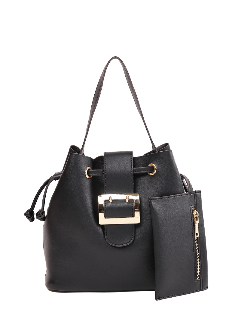 London Berry by HUER Jessy Bucket Bag With Mini Wallet