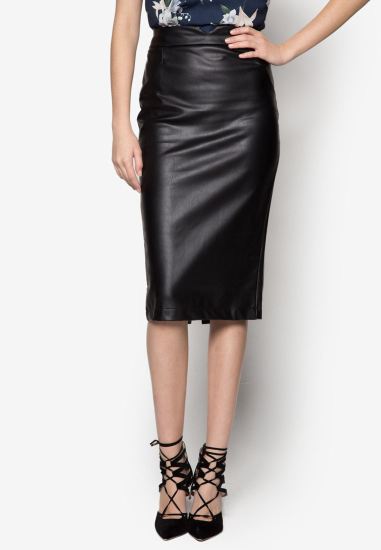 Pu Pencil Skirt