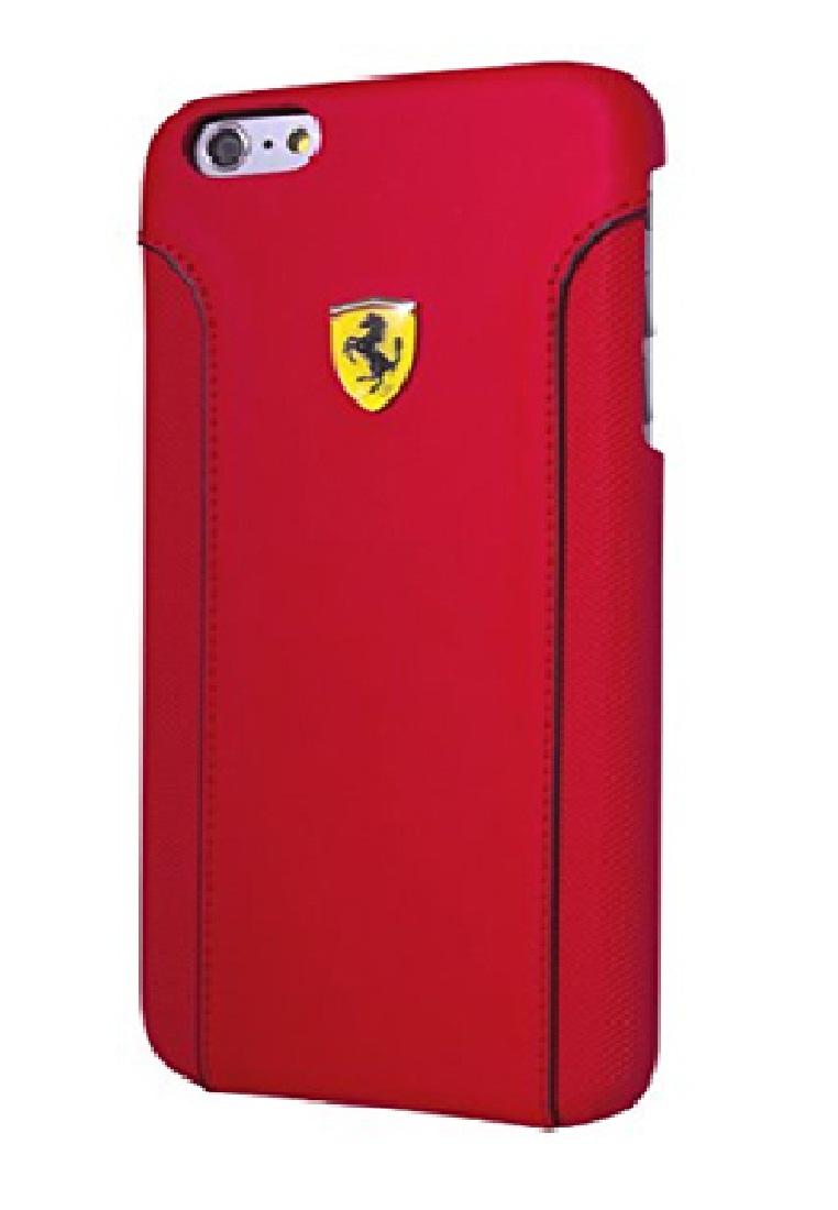 Ferrari Ferrari Hard Case Racing Carbon PU Leather For Iphone 6+ FEDA2IHCP6LRE– Red