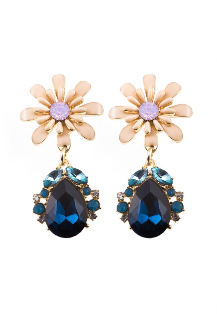 Toko Kurio Valenski Flower Drop Earrings