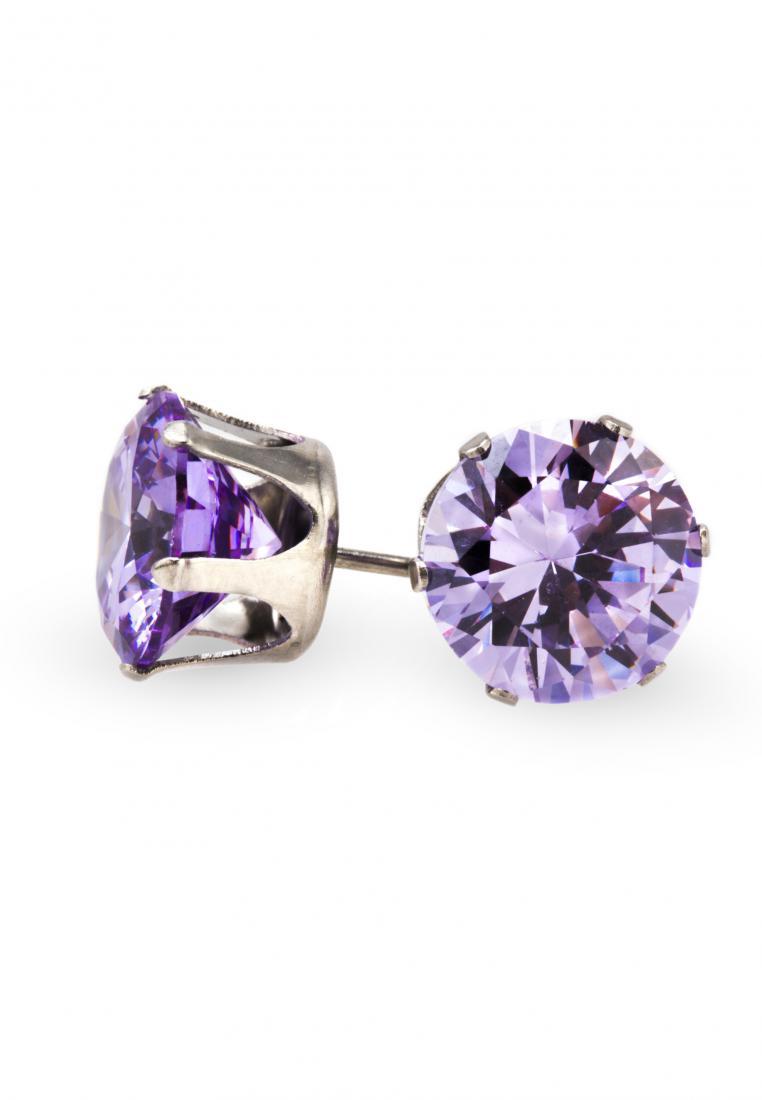 Toko Kurio Purple Cubic Zirconia Stud Earrings