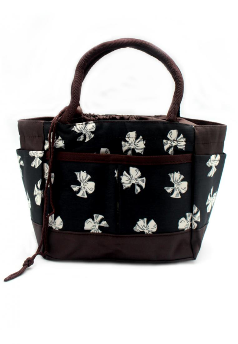 London Berry by HUER Hisashi Mini Tote Drawstring Bag