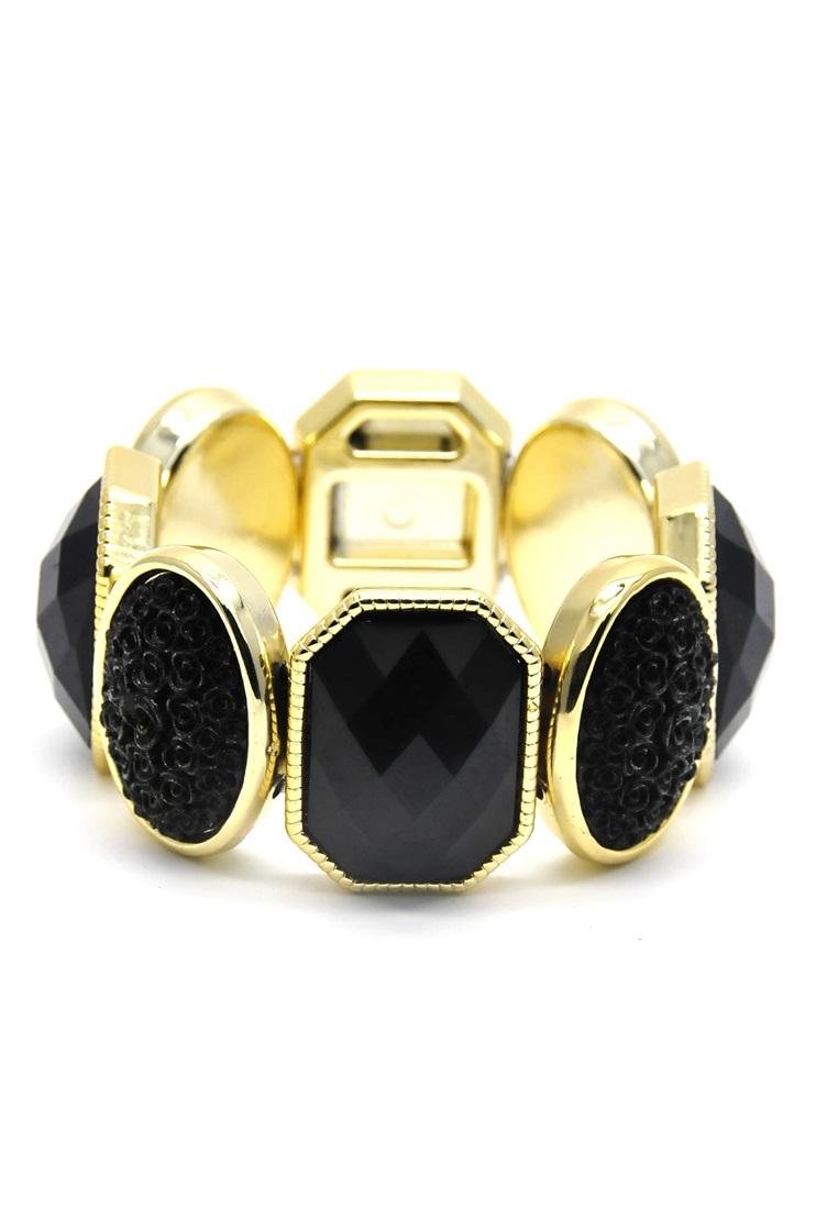 Istana Accessories Gelang Azzura Crystal Plastic Bracelet Fashion - Black