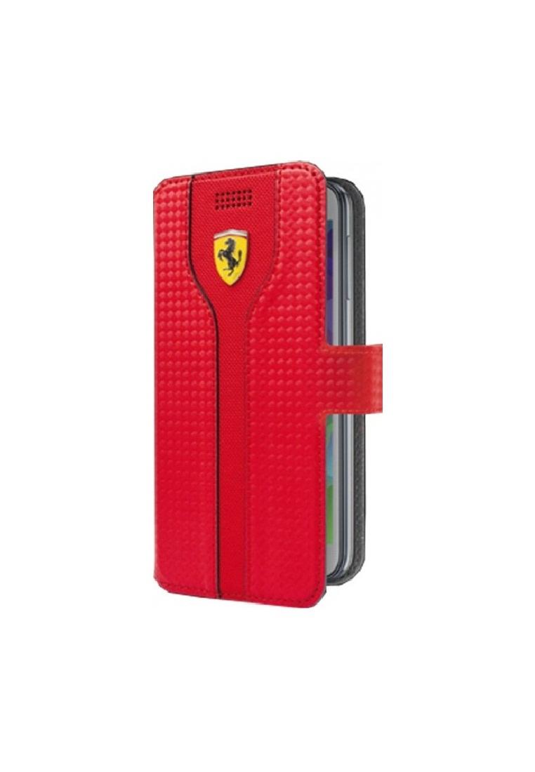 Ferrari Ferrari racing Carbon PU leather Universal Booktype FEST2BKXLRE- Red