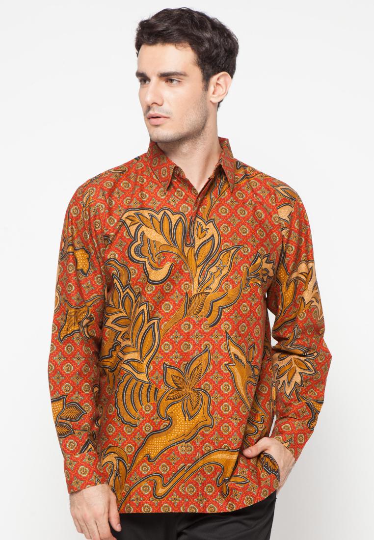 Kemeja batik lengan panjang by danar hadi me1851 Baju gamis batik danar hadi