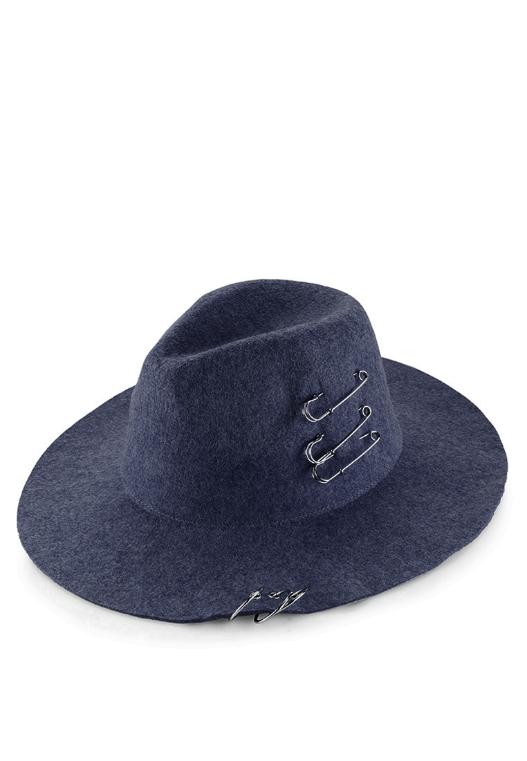 Urban State Topi Safety Pin & Ring Fedora Hat