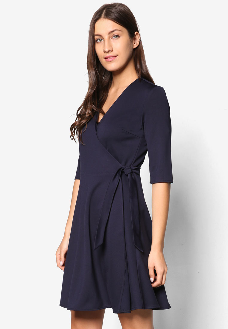 ZALORA Collection Wrapped Dress