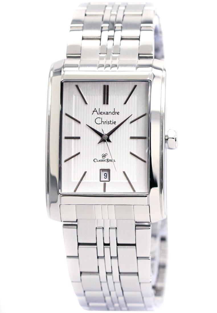 Alexandre Christie Alexandre Christie 8408 - Jam Tangan Wanita - Strap Stainless Steel - Silver Putih