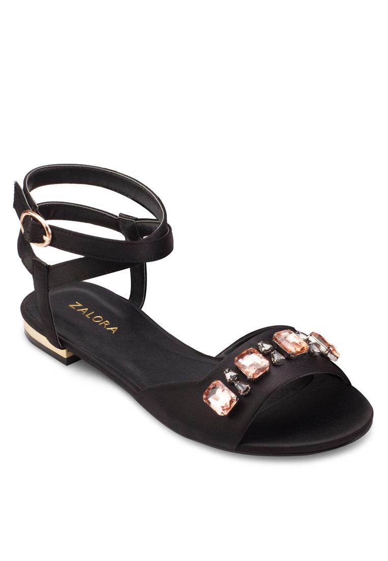 ZALORA Embellished Flat Sandals