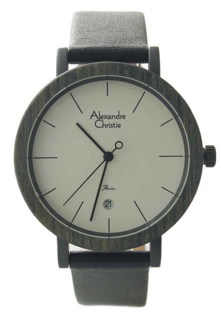Alexandre Christie Alexandre Christie Jam Tangan Wanita - Black White - Leather Strap - 2555 LDLIPSL.