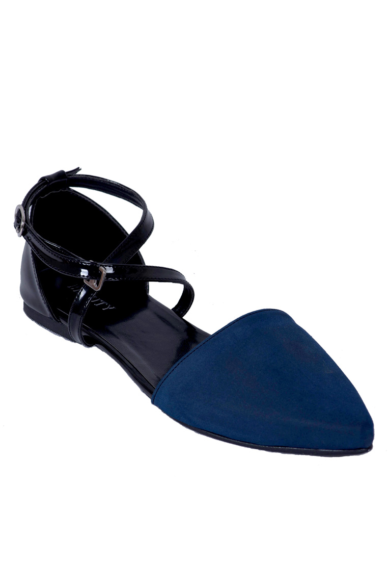Beauty Shoes Lexa Flat Blue