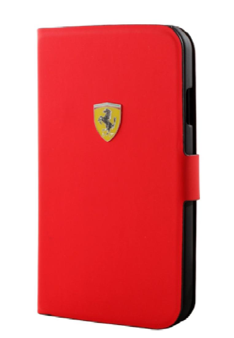 Ferrari Ferrari Mini Booktype case For Iphone S4 FESCRUFLHS4MRE-Red