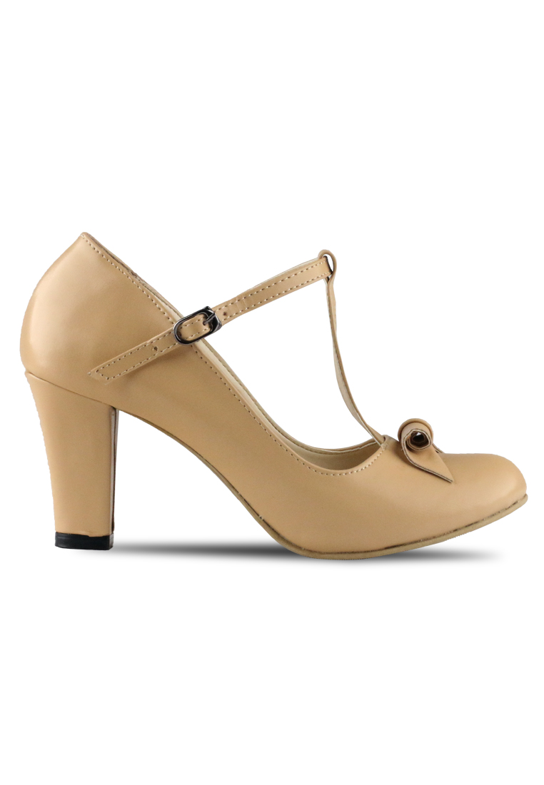 CLAYMORE Claymore sepatu high heels B 709T - Cream
