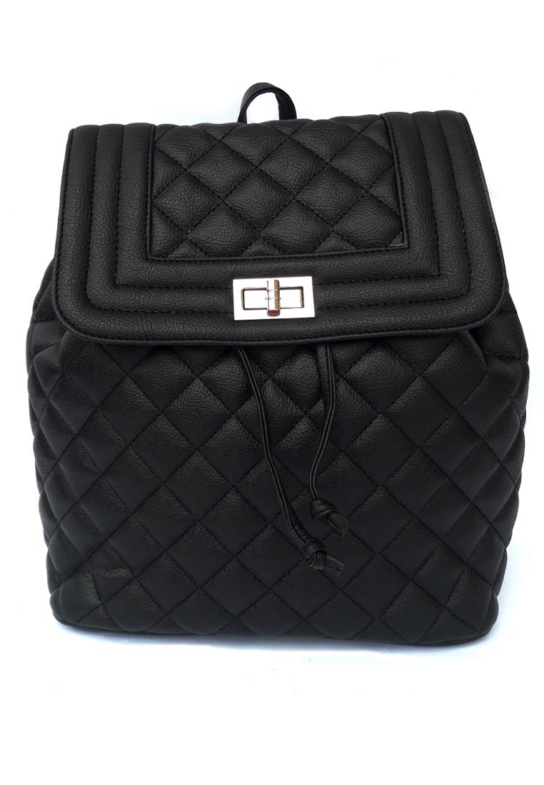Baglis Violet Women Backpack - Black