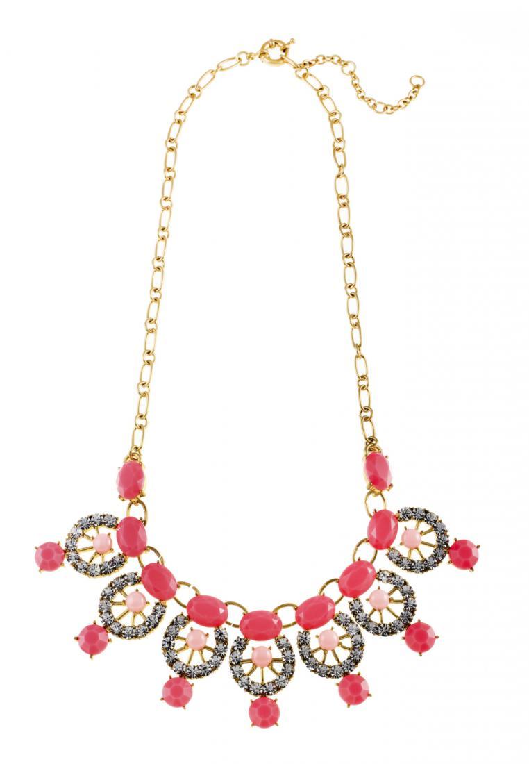 Toko Kurio Aztec Lantern Pink Necklace