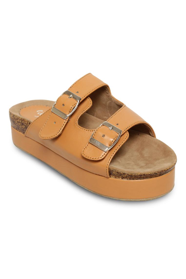 Urban Looks Milley Brown Platform Sandals
