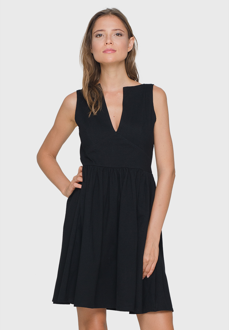 Black Cocktail Midi Dress.