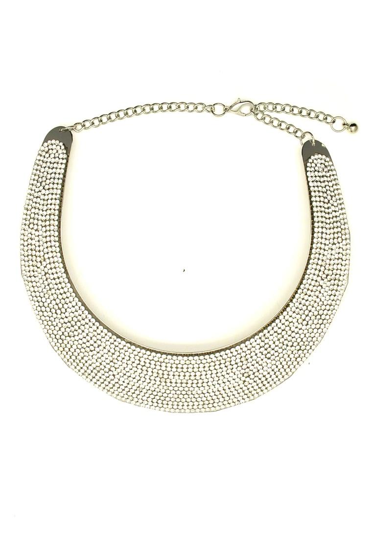 Kalung Arsila Choker Fashion Necklace-Silver