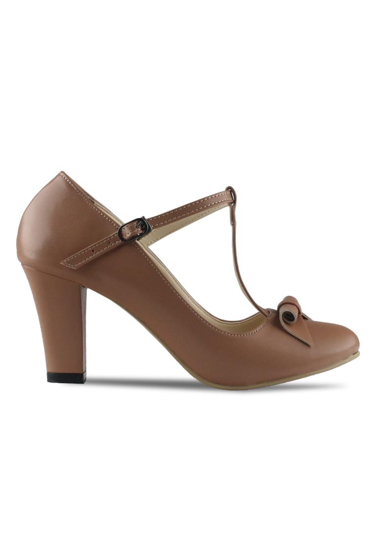 CLAYMORE Claymore sepatu high heels B 709T - Moca