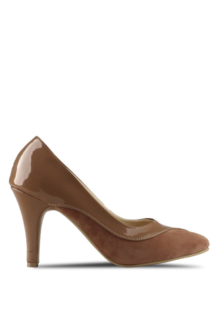 CLAYMORE Claymore sepatu high heels B 713T - Moca