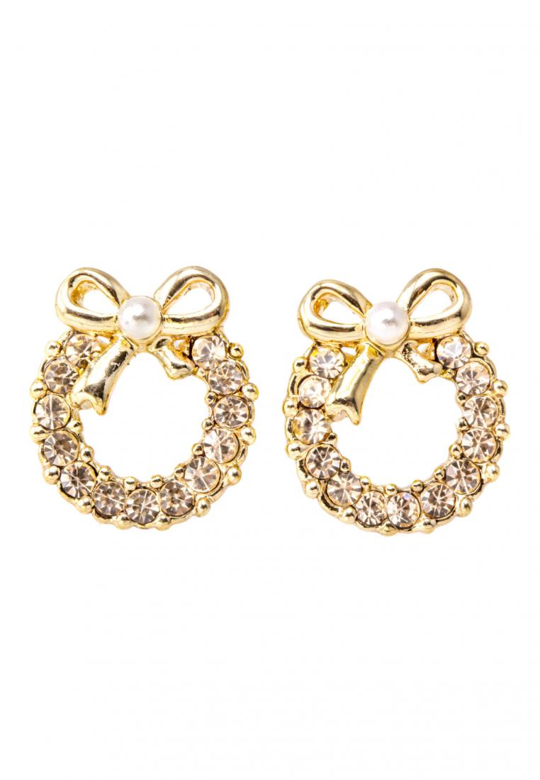 Toko Kurio Crystal Clear Wreath Earrings