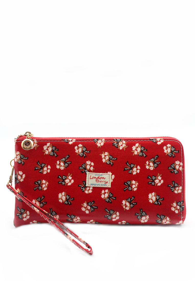 London Berry by HUER Kimberly Zipper Long Wallet