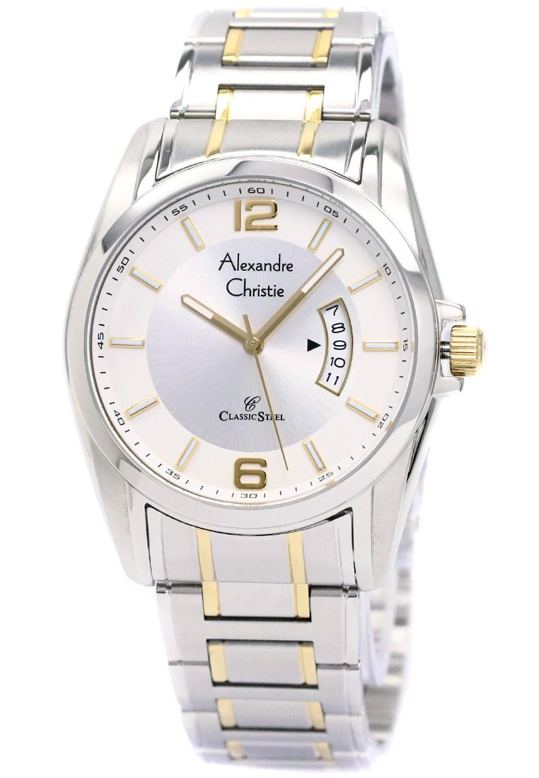 Alexandre Christie Alexandre Christie 8289 - Jam Tangan Wanita - Strap Stainless Steel - Silver Gold