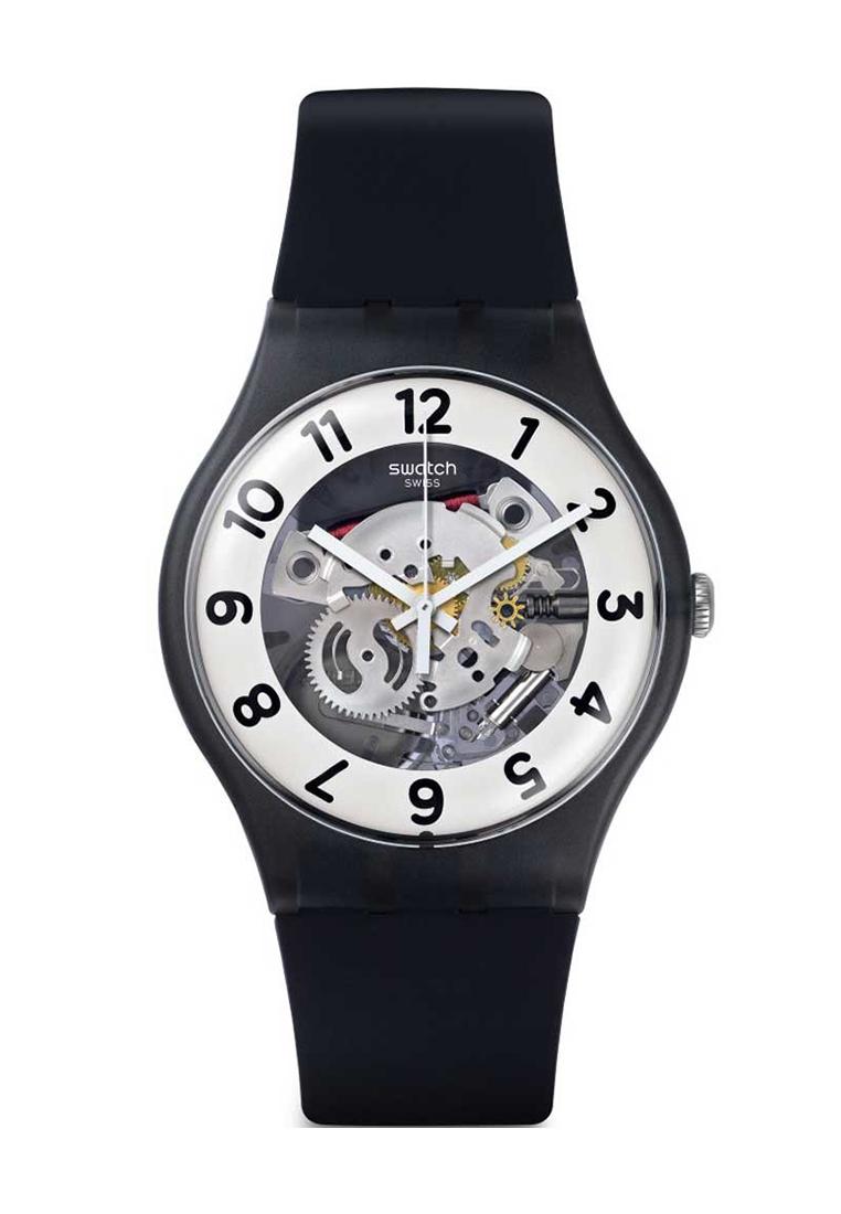 Swatch Jam Tangan Pria Hitam Hitam Stainless Steel Ycb4019ag Source swatch .