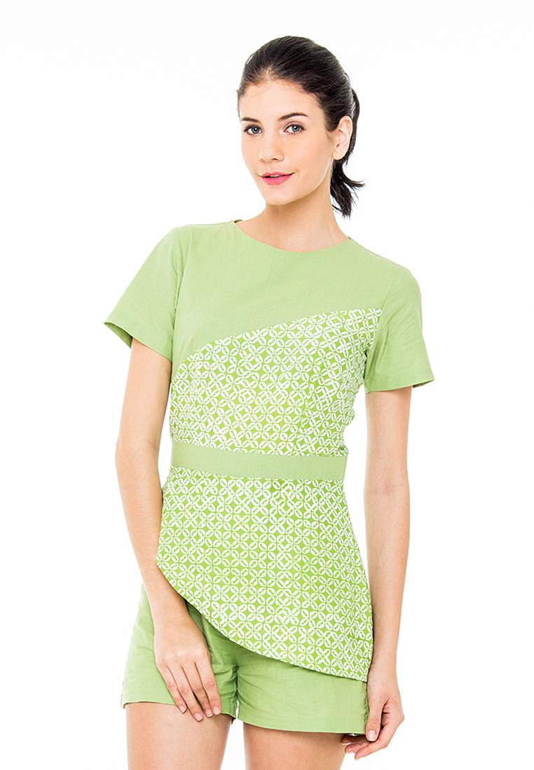 Mahogany Glitterati Adhisty Green jumpsuit