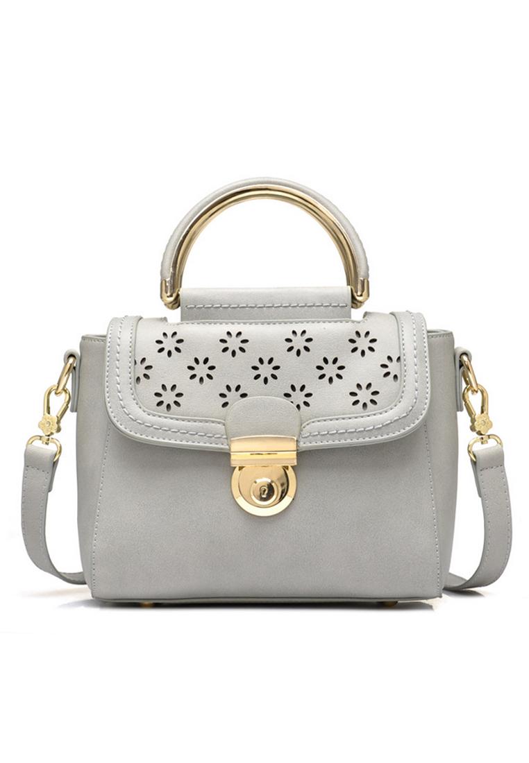 VERNYX VERNYX - Women's Beibaobao Graceful Shoulder Bag - TSX578 Gray - Tas Wanita