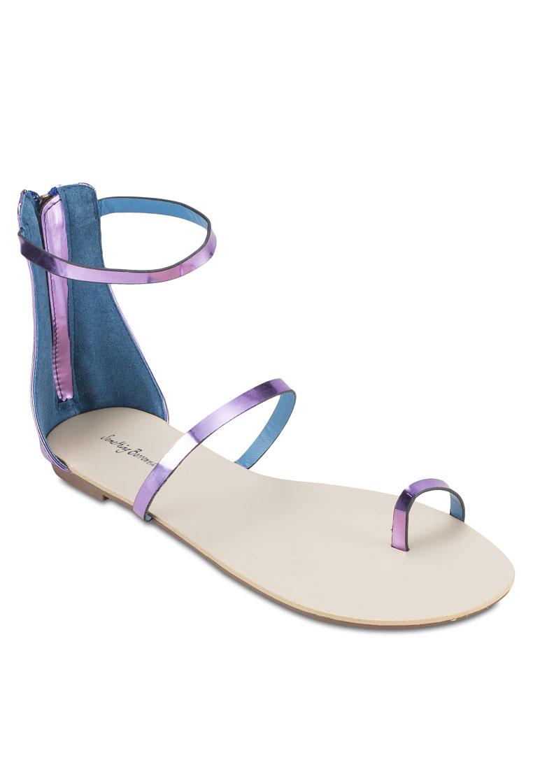 Something Borrowed Minimalist Tri-Strap Flat Sandals