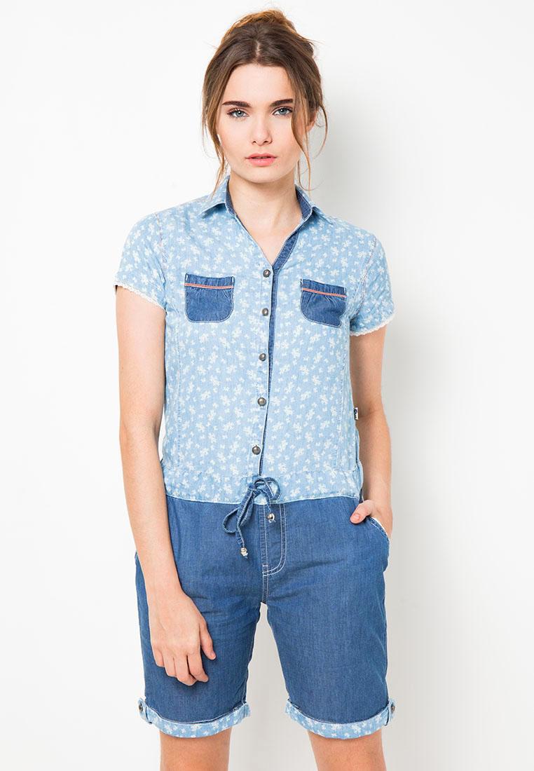 Lois Jeans Playsuit Denim Shirt