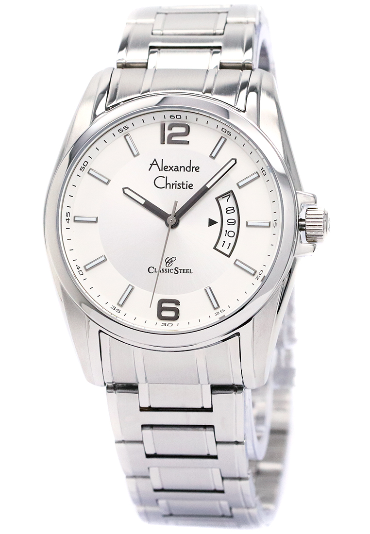 Alexandre Christie Alexandre Christie 8289 - Jam Tangan Wanita - Strap Stainless Steel - Silver Putih