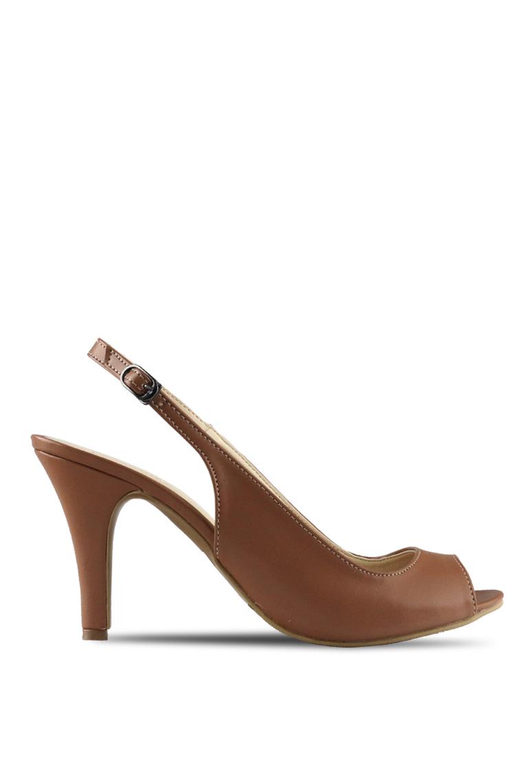 CLAYMORE Claymore sepatu high heels B 708T - Moca