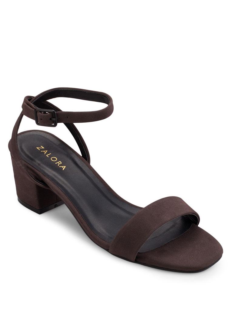 ZALORA Ankle Strap Block Heel Sandals