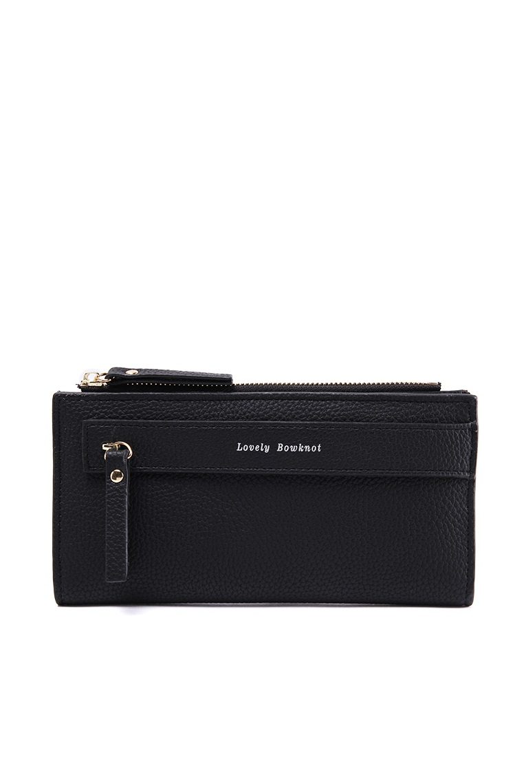 London Berry by HUER Lovely Bowknot Double Pull Zipper Wallet