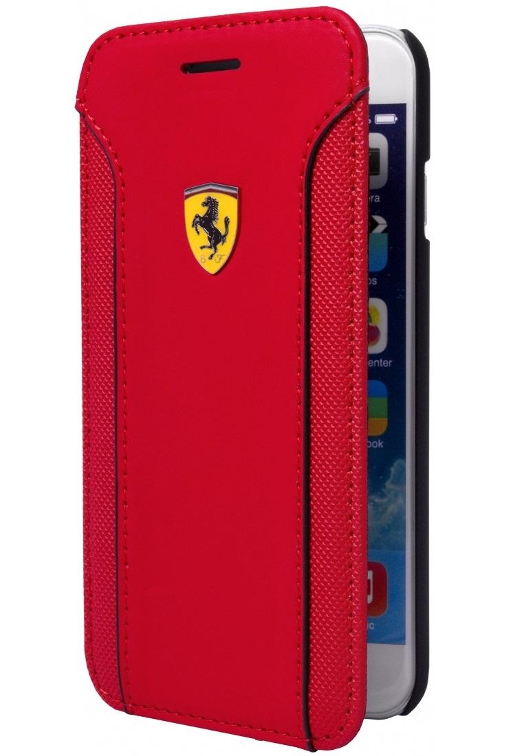 Ferrari Ferrari Booktype Case FEDA2IFLBKP6LRE For Iphone 6+ - Merah