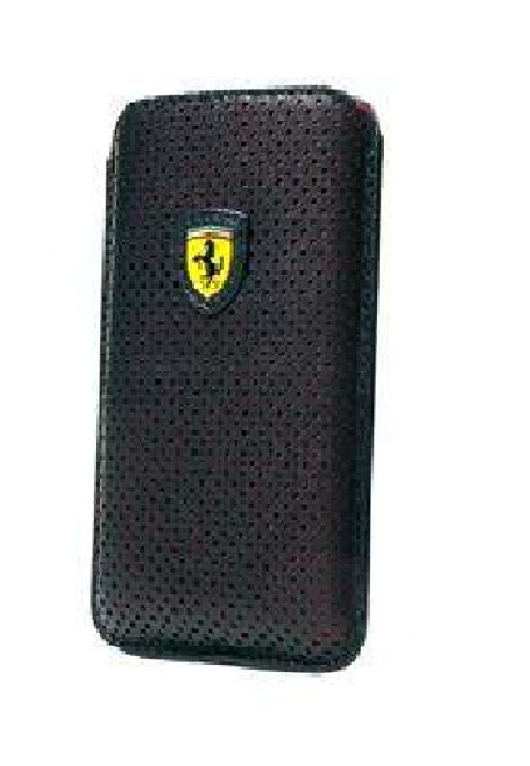 Ferrari Farrari Pouch Racing Carbon PU Leather For BB FECHFPPOP5 Black